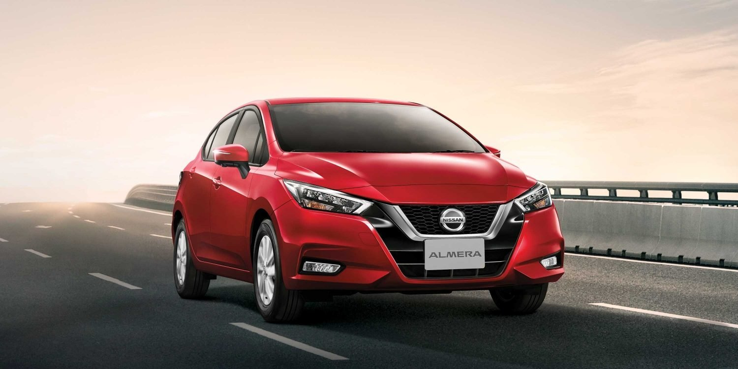New Nissan Almera front view