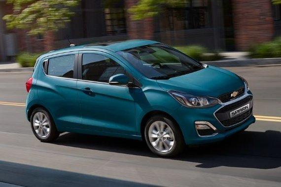 Chevrolet Spark on the road