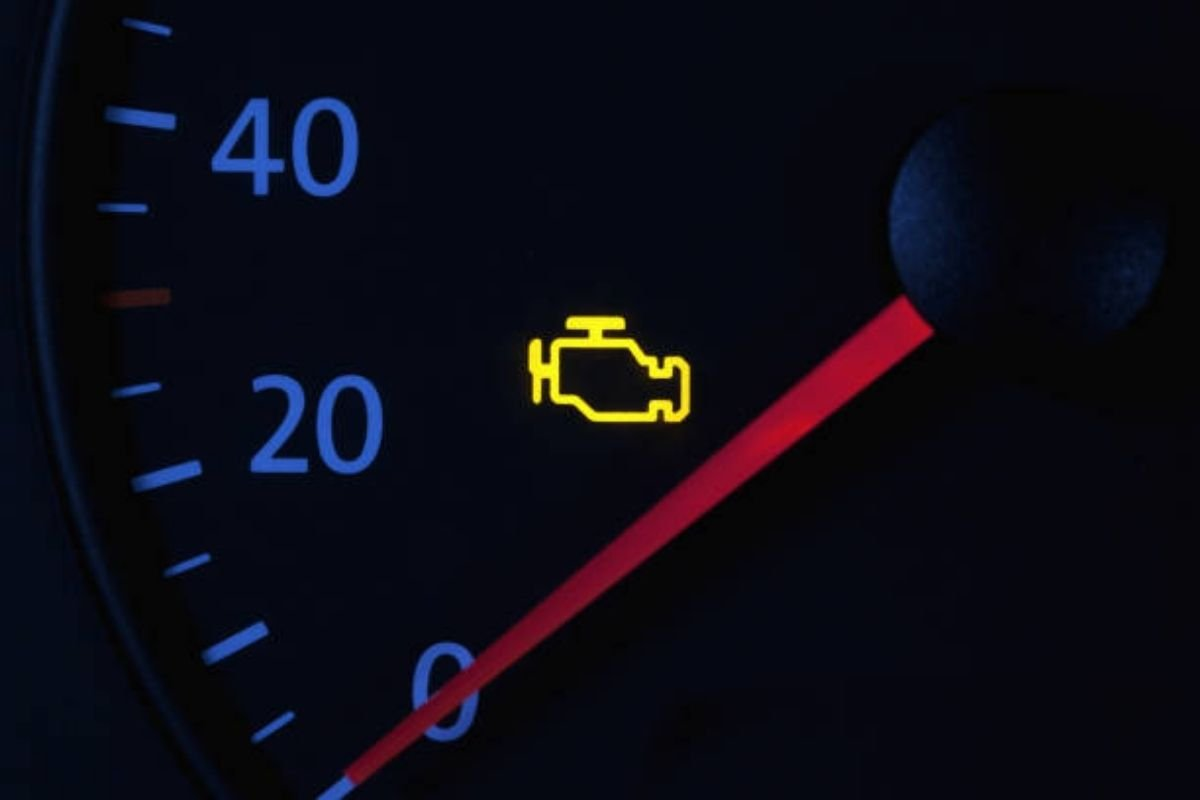 A picture of check engine light