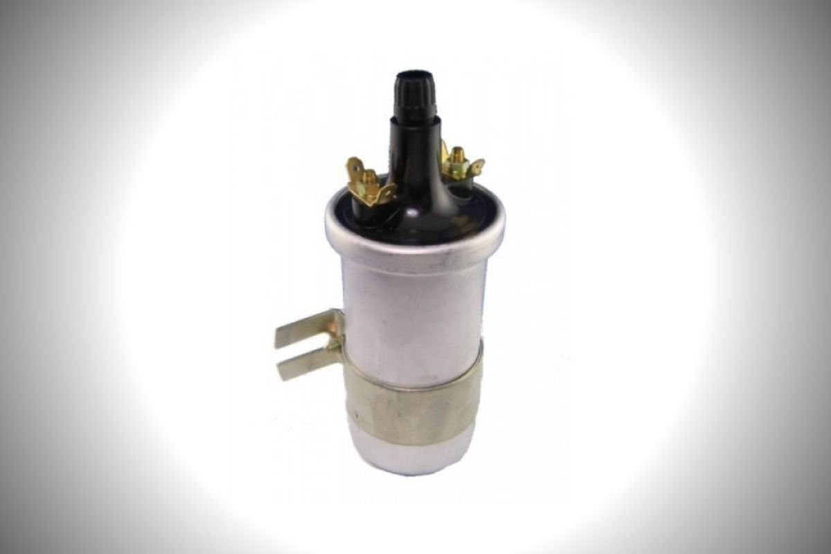 A picture of a car's ignition coil