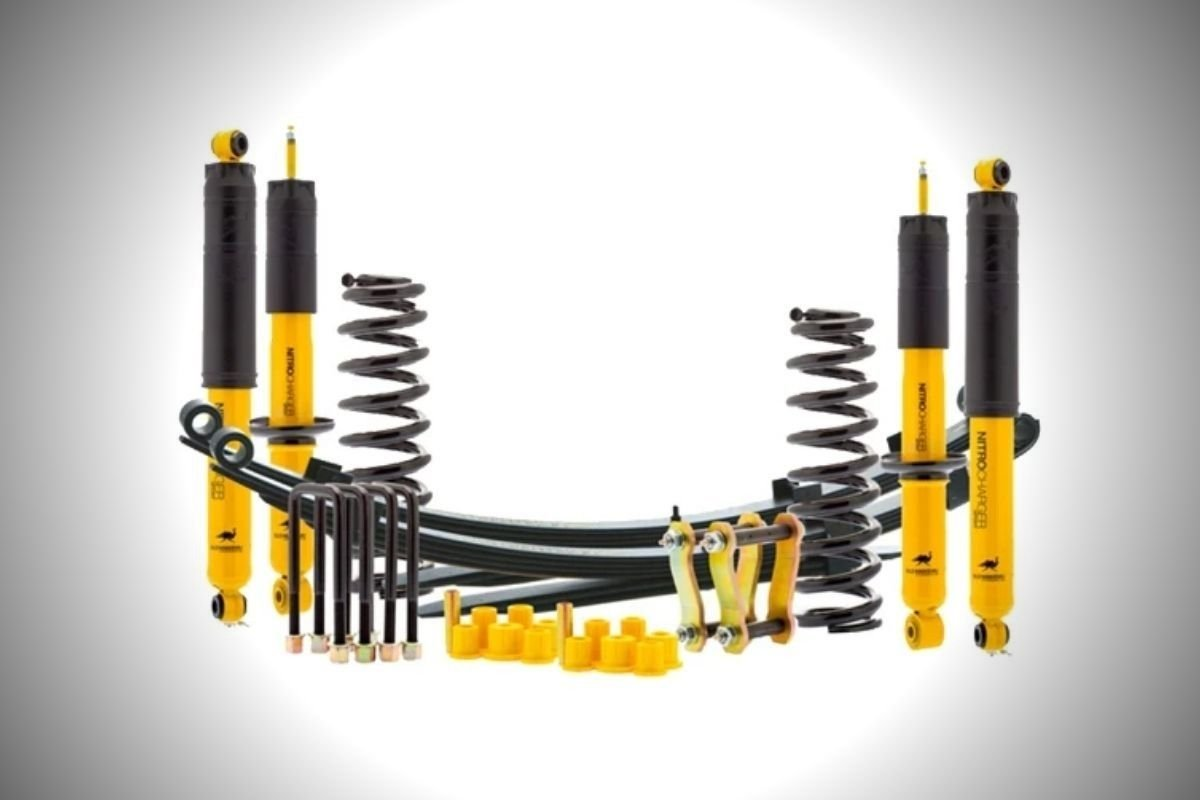 A picture of a suspension lift kit for the Mitsubishi Strada