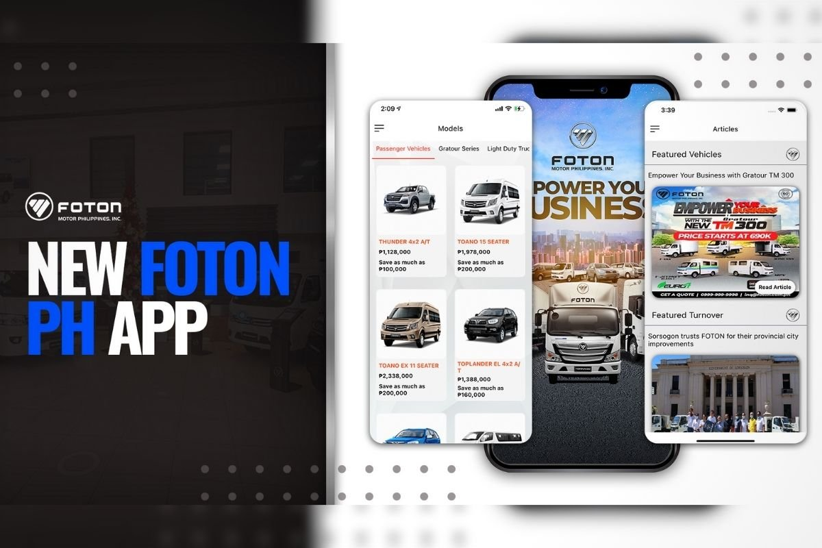 Foton new app from improved virtual customer experience