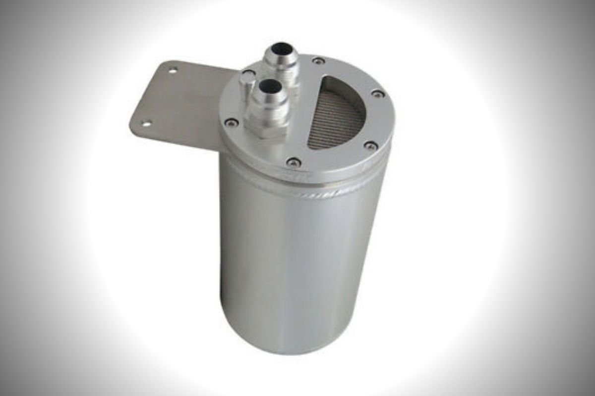 A picture of an oil catch can for the LS3 engine