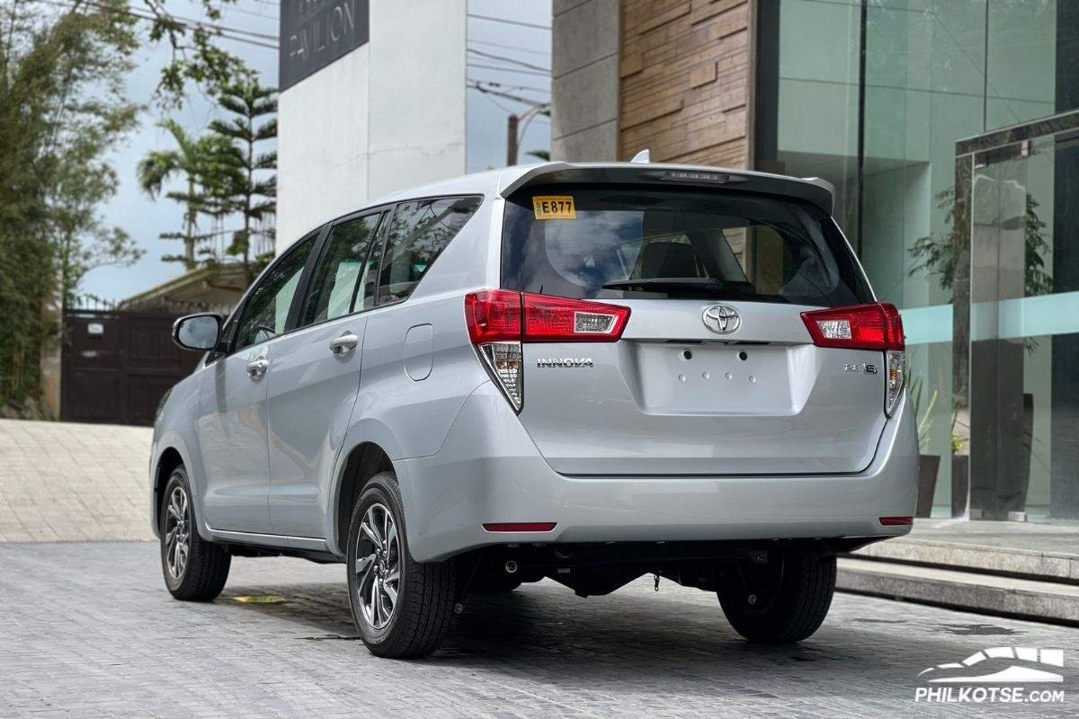 A picture of the rear of the 2021 Innova G