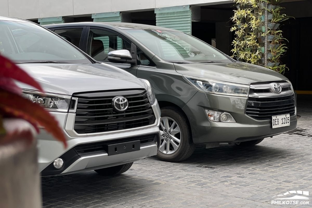 A picture of the Toyota Innova old and new
