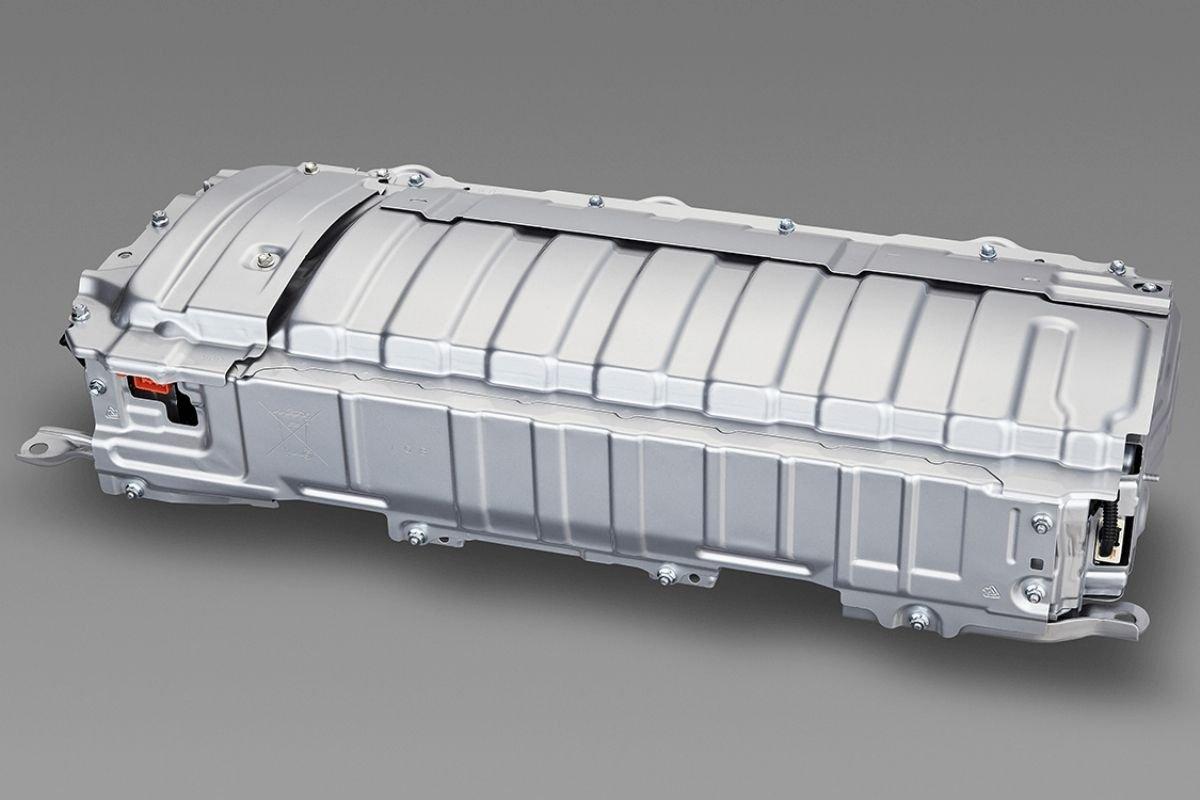 A battery from a hybrid powertrain