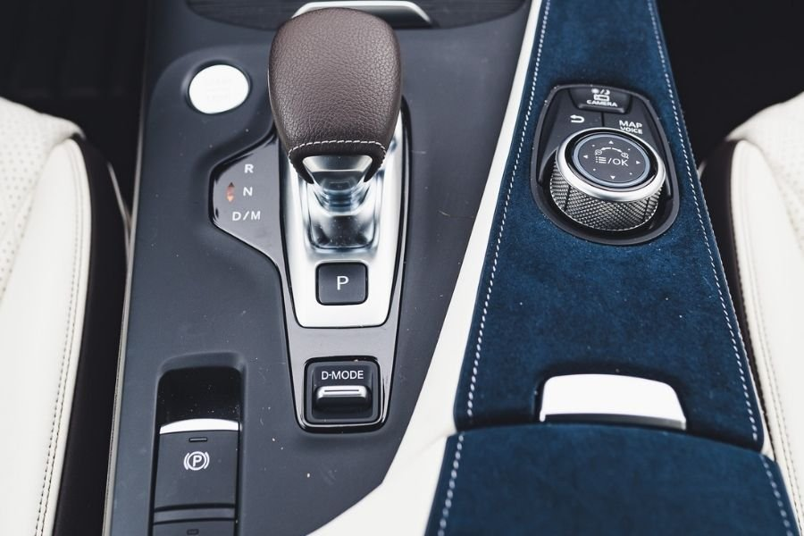 A car with an electronic parking brake