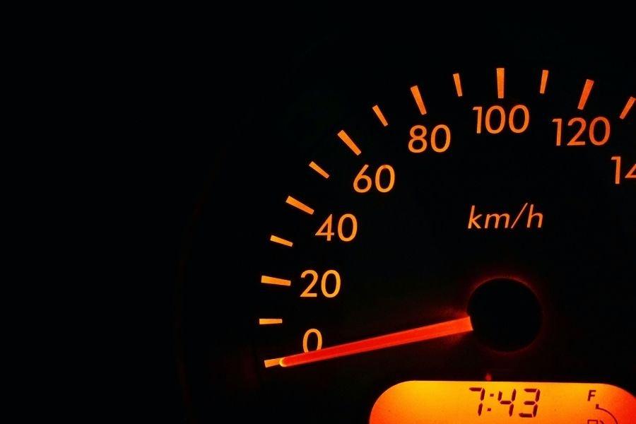 A car's instrument gauge