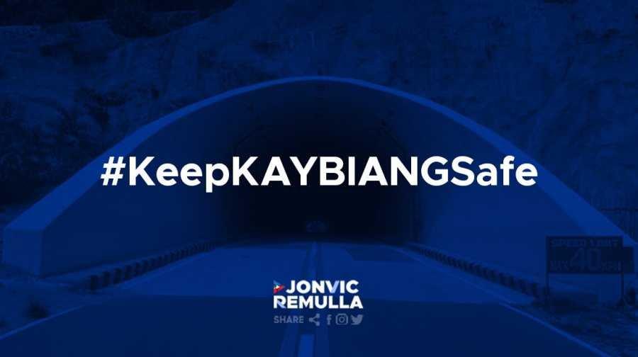 Kaybiang Tunnel hashtag