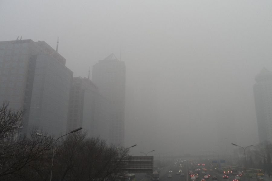 A picture of smog in Beijing
