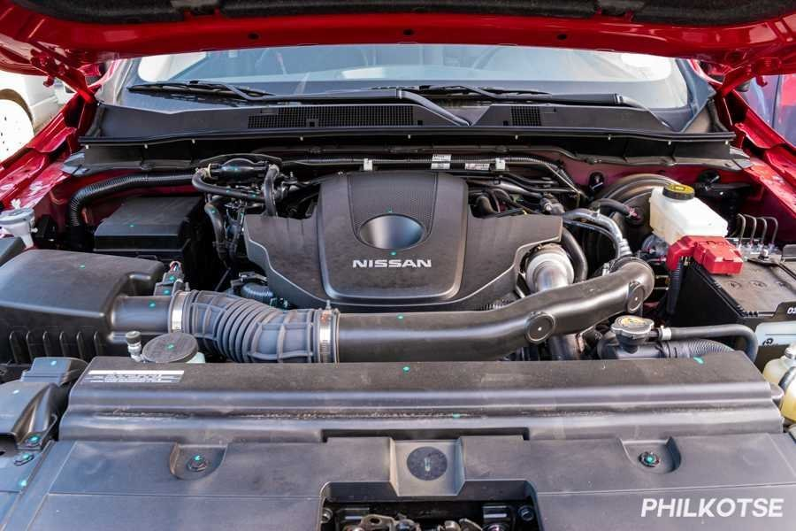 A picture of the Nissan Navara's 2.5-liter engine