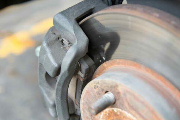 A brake assembly of a car