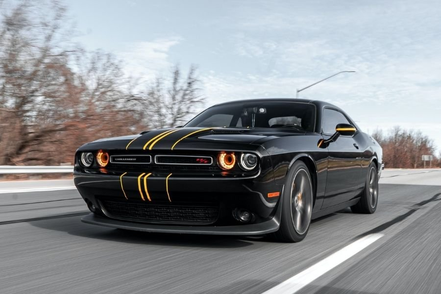 Dodge Challenger on a road