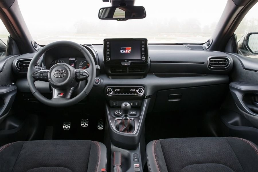 A picture of the GR Yaris' interior