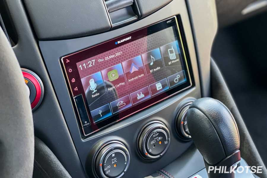 A picture of the 370Z Nismo's touchscreen