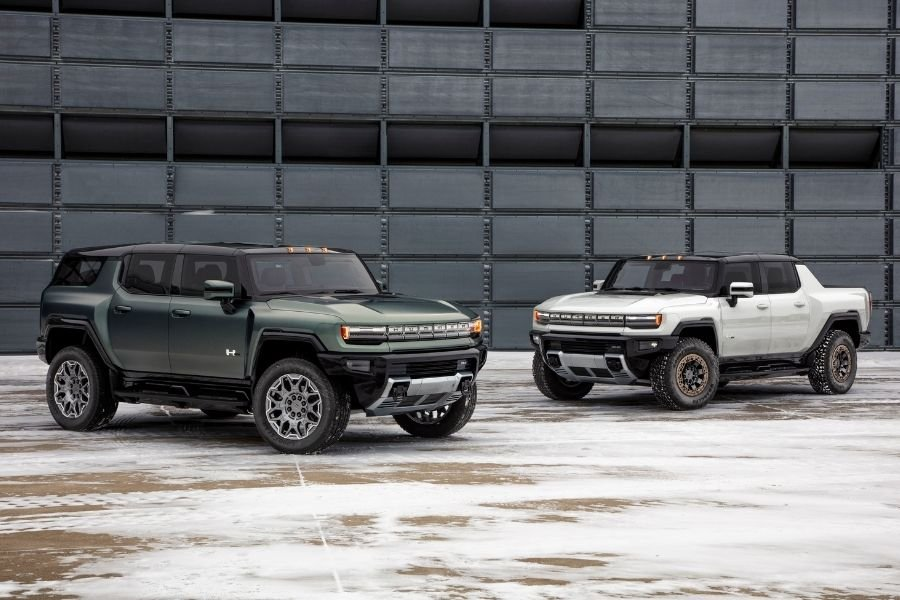 A picture of the Hummer EV lineup
