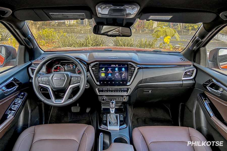 A picture of the D-Max LS-E's dashboard