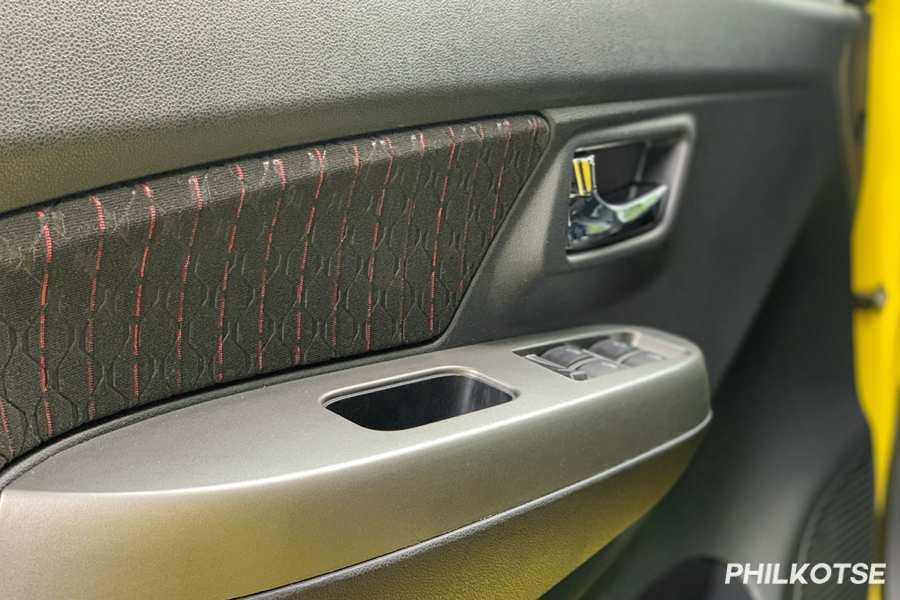A picture of the Toyota Wigo's door cards
