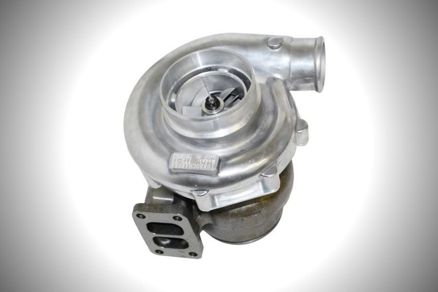 A picture of a twin-scroll turbo charger