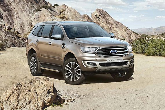 Ford Everest front view