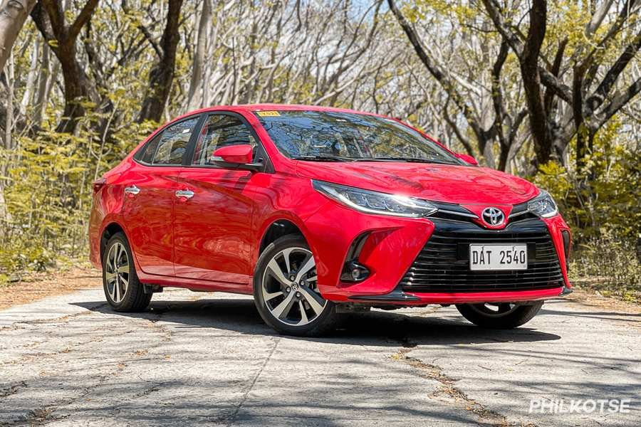 A picture of the front of the Toyota Vios G