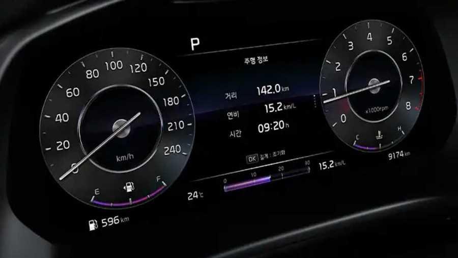 Forte GT hatchback instrument cluster