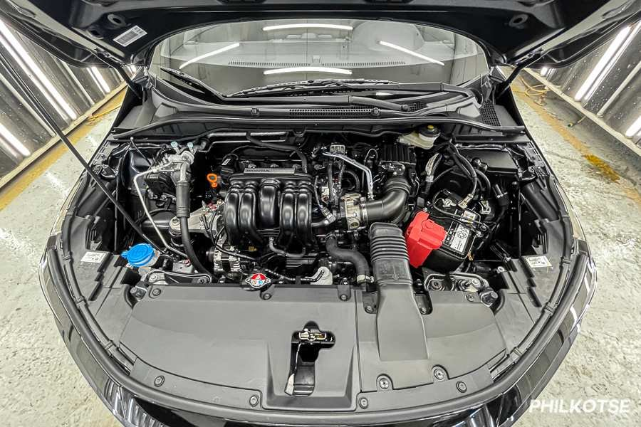 A picture of the Honda City's engine