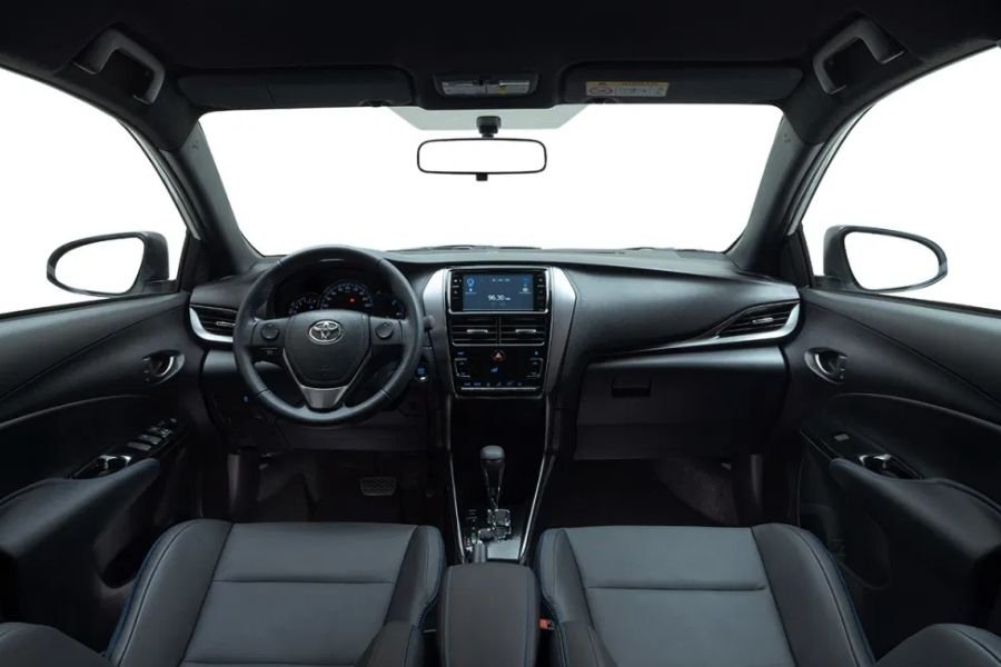 A picture of the Toyota Yaris' interior