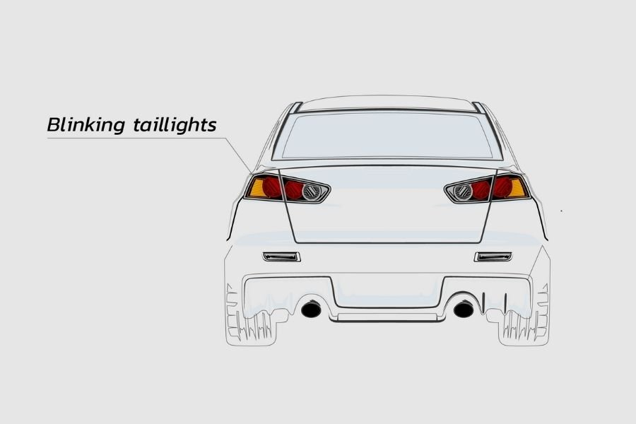 Car blinking taillights