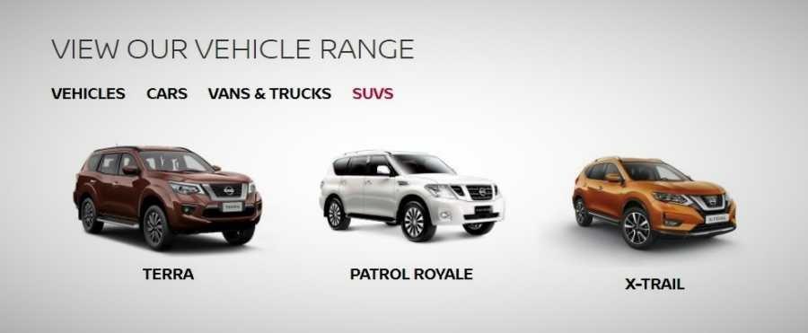 Nissan PH SUV lineup