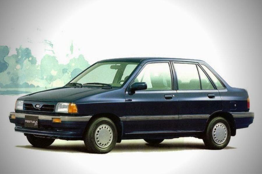 A picture of the Festiva/Pride sedan version
