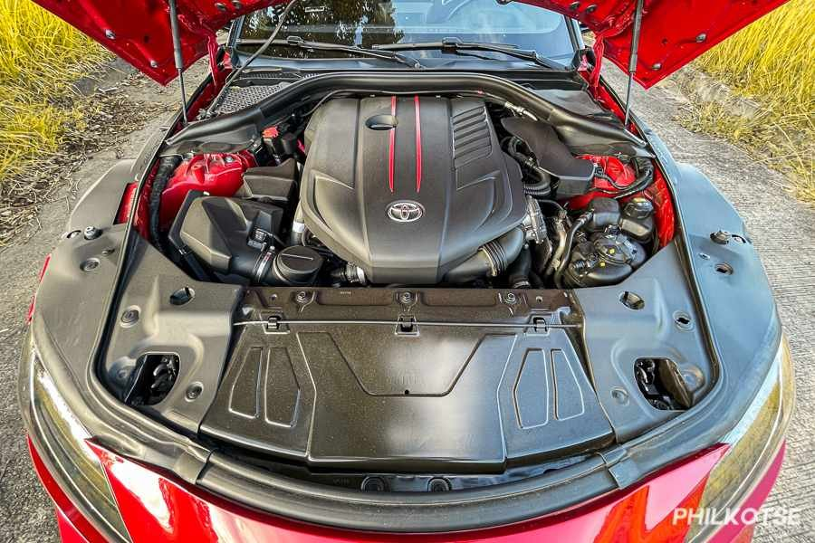 A picture of the Toyota GR Supra's engine