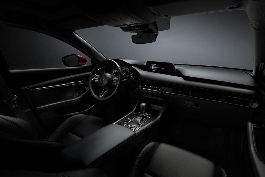 Interior view of the Mazda3