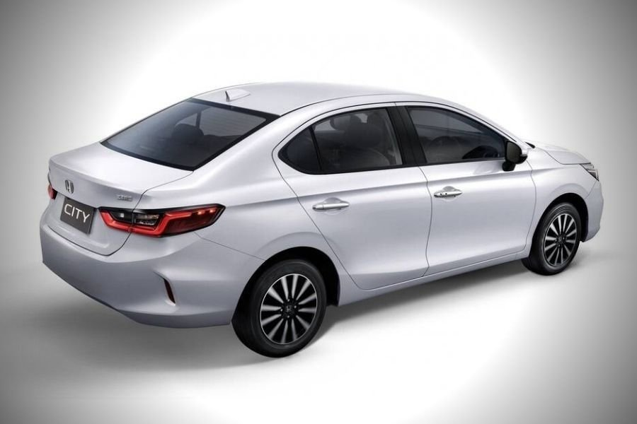 A picture of the rear of the Honda City S