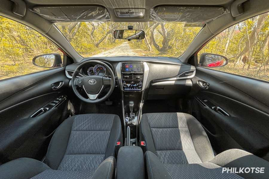 A picture of the interior of the Toyota Vios