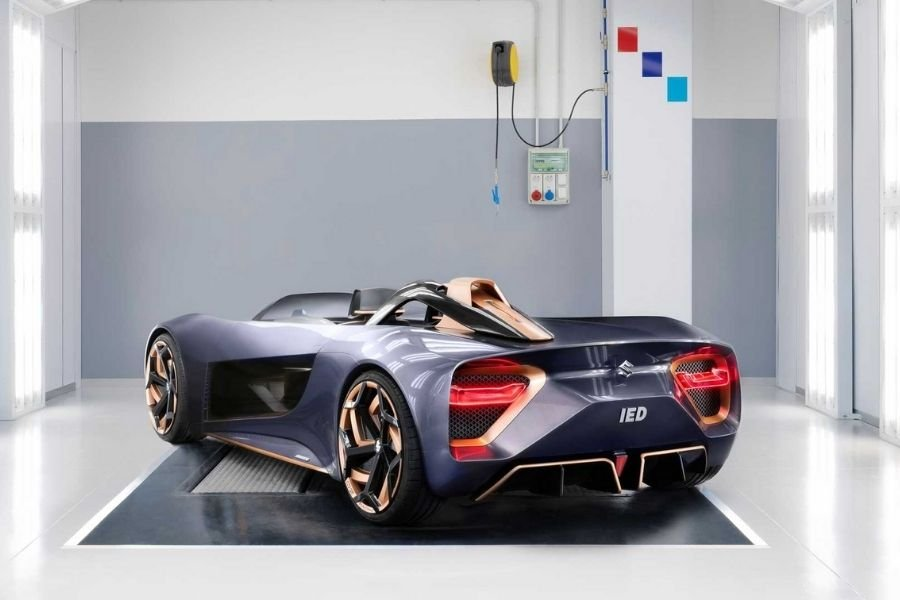 A picture of the Misano roadster concept's rear end