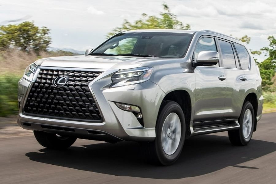 A picture of the Lexus GX on the road
