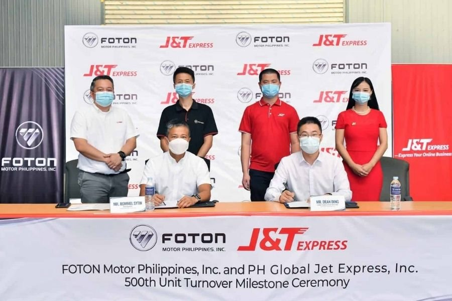 Foton Philippines and J&T Express partnership