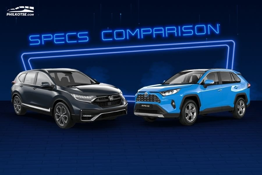 A picture of the RAV4 and CR-V head to head