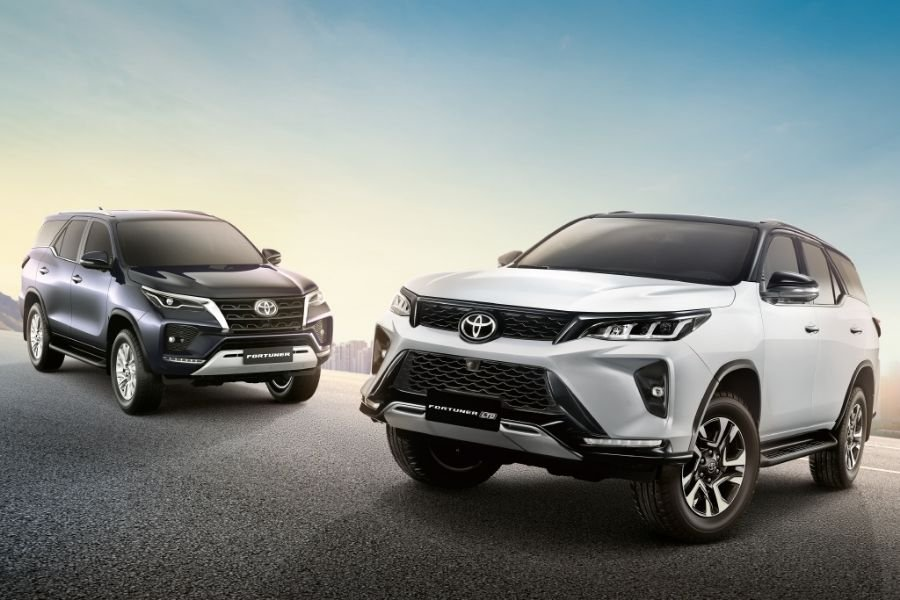 Two Toyota Fortuner front view