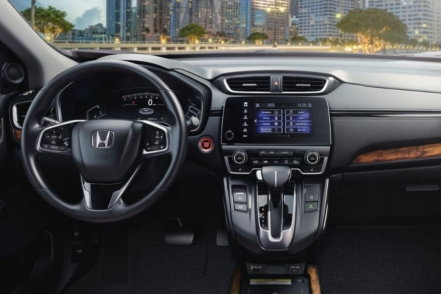 A picture of the CR-V SX's cockpit