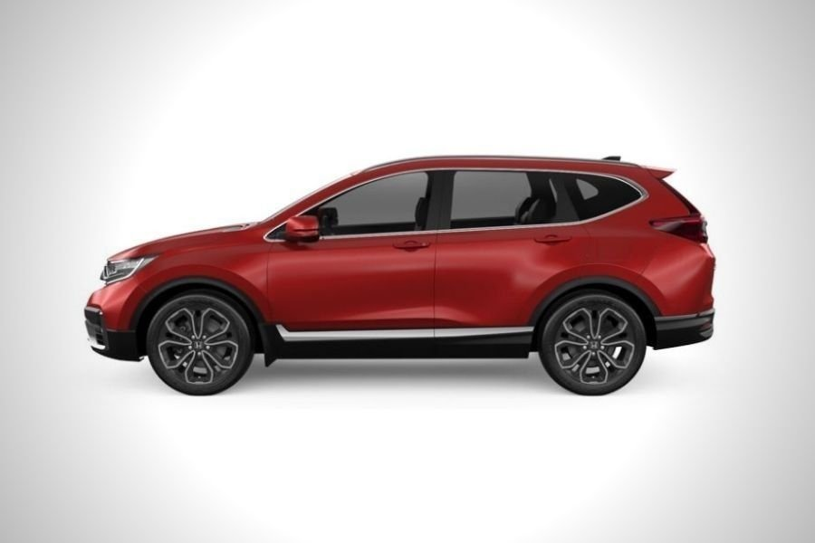 A picture of the 2021 Honda CR-V from the side