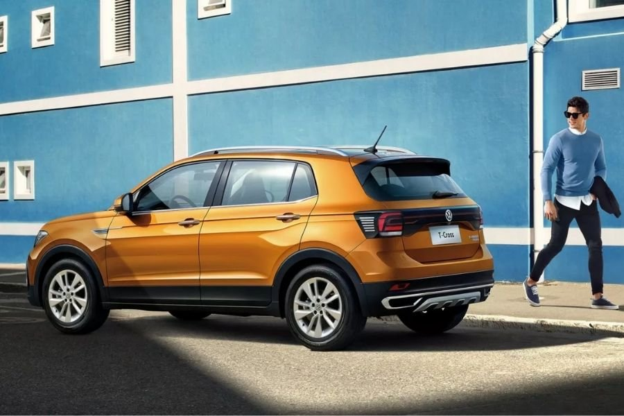 A shot of the rear quarter side of the Volkswagen T-Cross