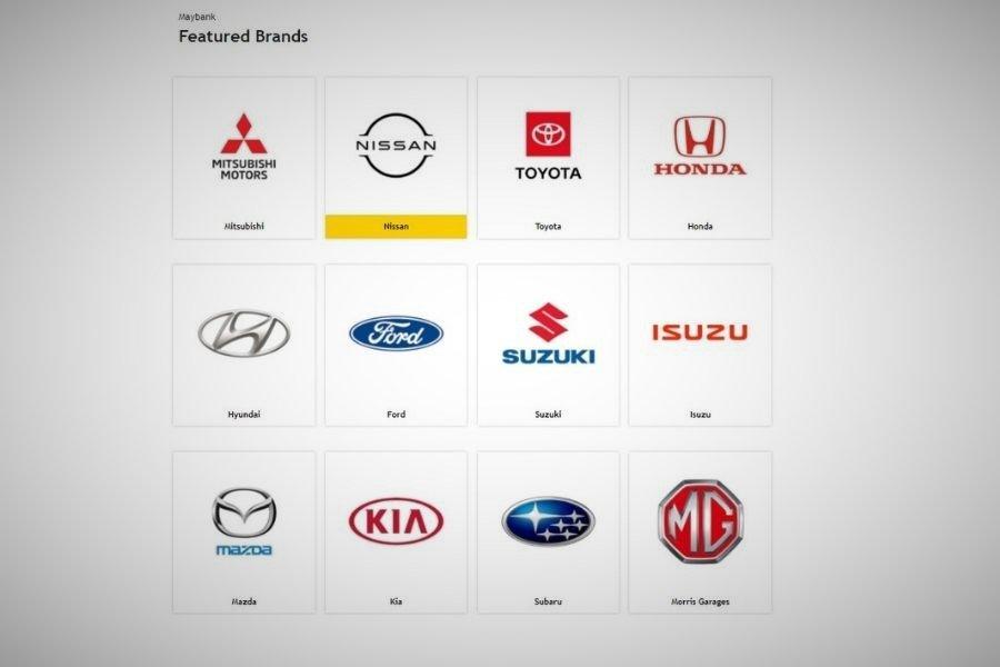 Maybank Zone car brands