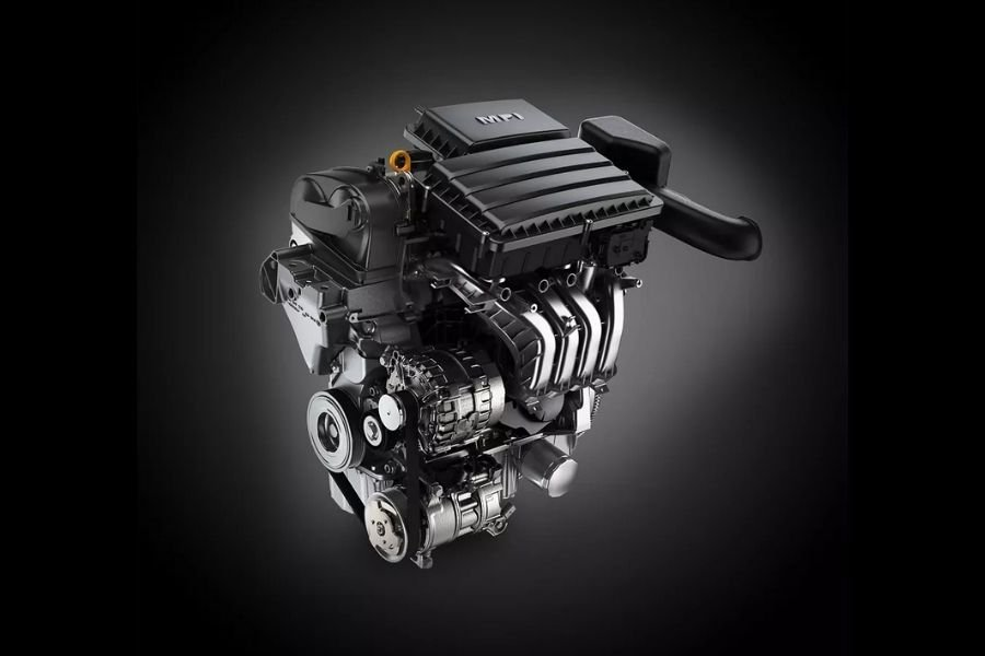 A picture of the VW T-Cross' engine