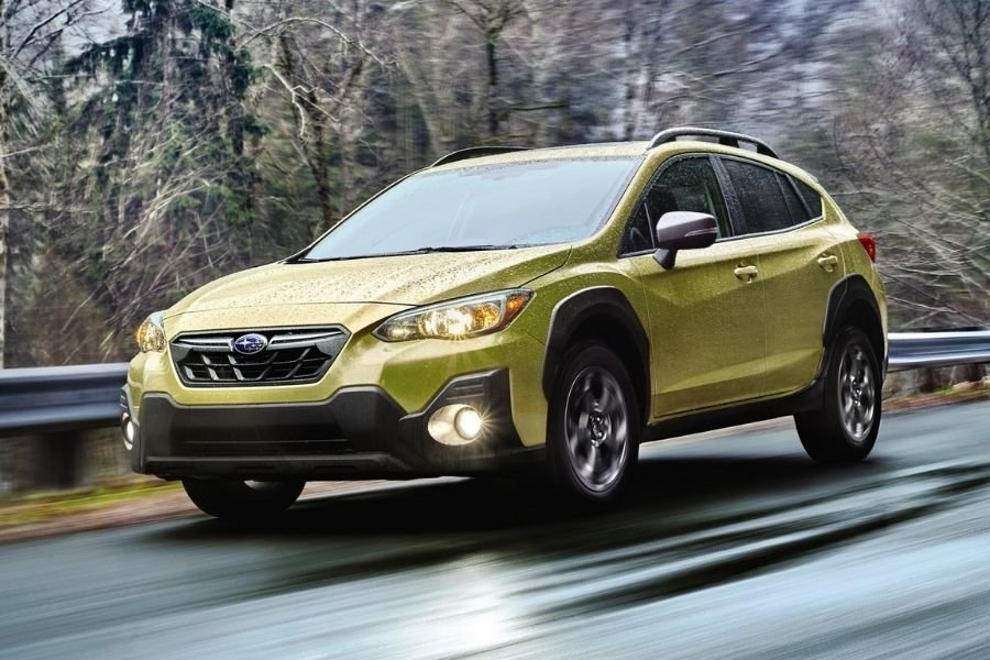 A picture of the updated Subaru XV on the road