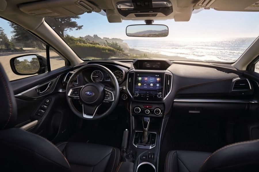 A picture of the facelifted 2021 Subaru XV's interior