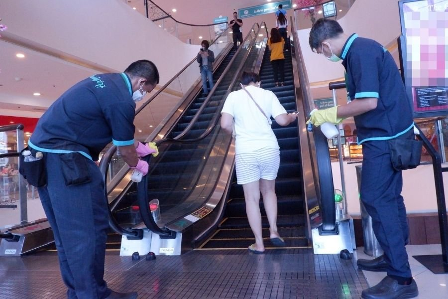 People in mall