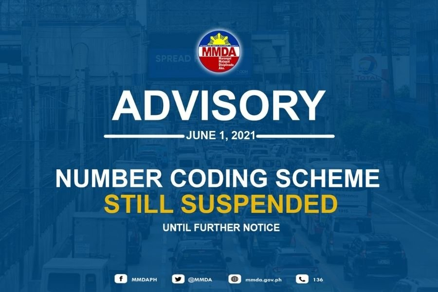 A picture of the MMDA announcement stating that the UVVRP is suspended from June 2021 until further notice