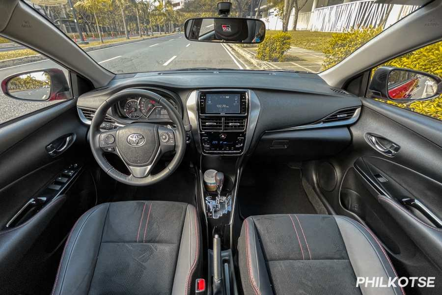 A picture of the Toyota Vios GR-S interior